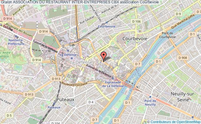 plan association Association Du Restaurant Inter-entreprises Cbx Courbevoie