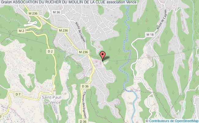 plan association Association Du Rucher Du Moulin De La Clue