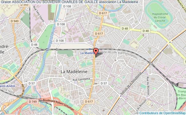 plan association Association Du Souvenir Charles De Gaulle La    Madeleine