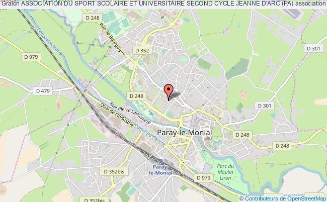 plan association Association Du Sport Scolaire Et Universitaire Second Cycle Jeanne D'arc (pa) Paray-le-Monial
