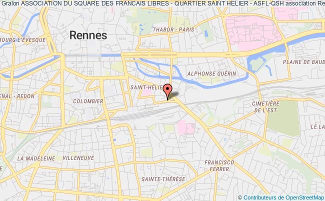 plan association Association Du Square Des Francais Libres - Quartier Saint Helier - Asfl-qsh Rennes
