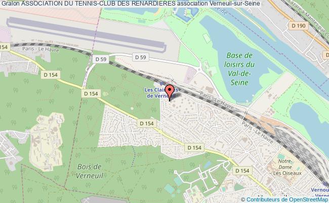 plan association Association Du Tennis-club Des Renardieres Verneuil-sur-Seine
