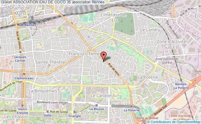 plan association Association Eau De Coco 35 Rennes