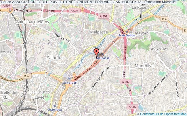plan association Association Ecole Privee D'enseignement Primaire Gan Mordekhai Marseille