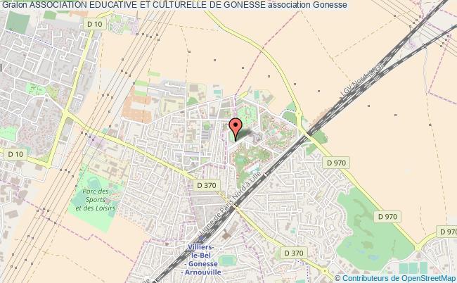 plan association Association Educative Et Culturelle De Gonesse Gonesse