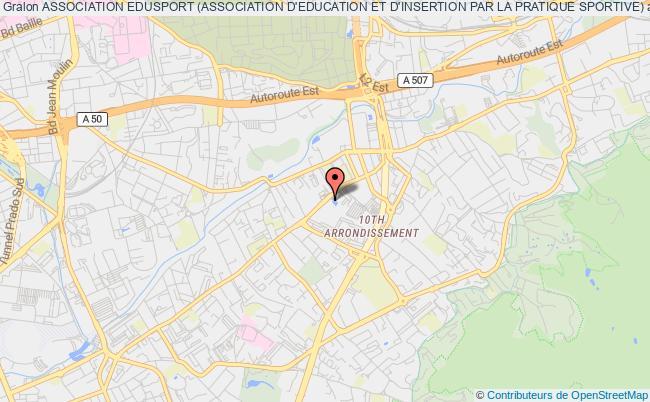 plan association Association Edusport (association D'education Et D'insertion Par La Pratique Sportive) Marseille
