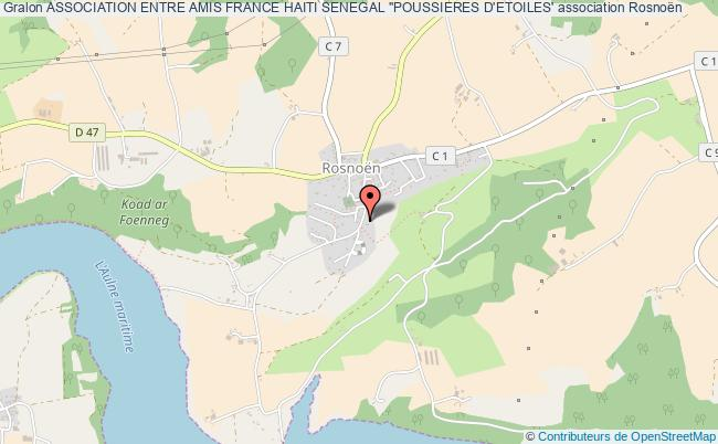 """plan association Association Entre Amis France Haiti Senegal """"poussieres D'etoiles'"""