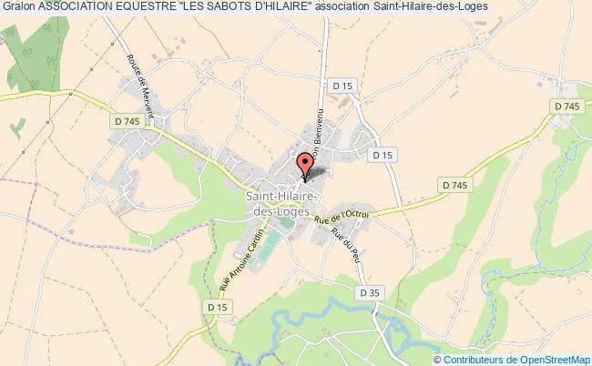 """plan association Association Equestre """"les Sabots D'hilaire"""""""