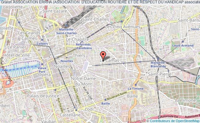plan association Association Errha (association  D'education Routiere Et De Respect Du Handicap Marseille 5e