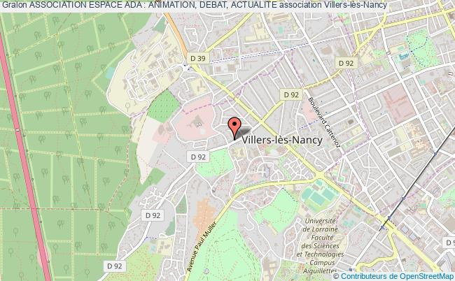 plan association Association Espace Ada : Animation, Debat, Actualite