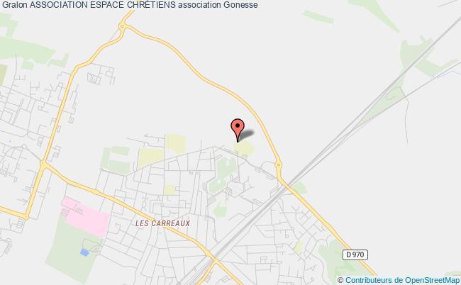 plan association Association Espace ChrÉtiens Gonesse