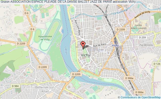 plan association Association Espace Pleiade De La Danse Ballet Jazz De Paris