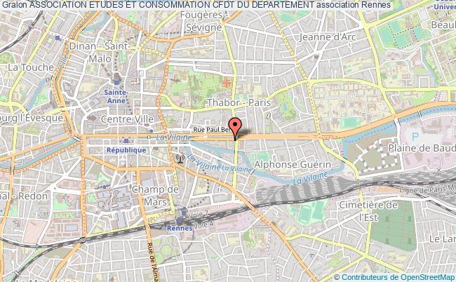 plan association Association Etudes Et Consommation Cfdt Du Departement Rennes