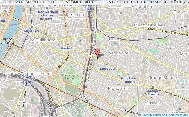plan association Association Etudiante De La Comptabilite Et De La Gestion Des Entreprises De Lyon Iii (acg)