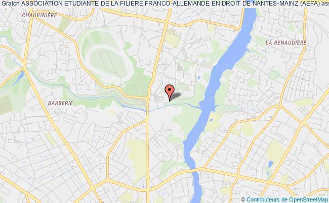 plan association Association Etudiante De La Filiere Franco-allemande En Droit De Nantes-mainz (aefa)