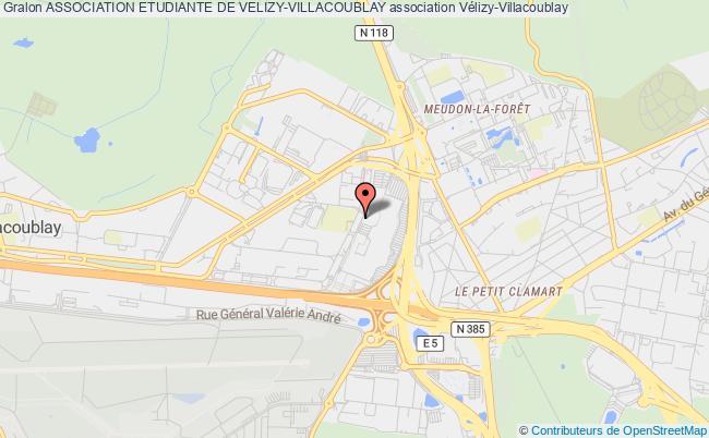 plan association Association Etudiante De Velizy-villacoublay
