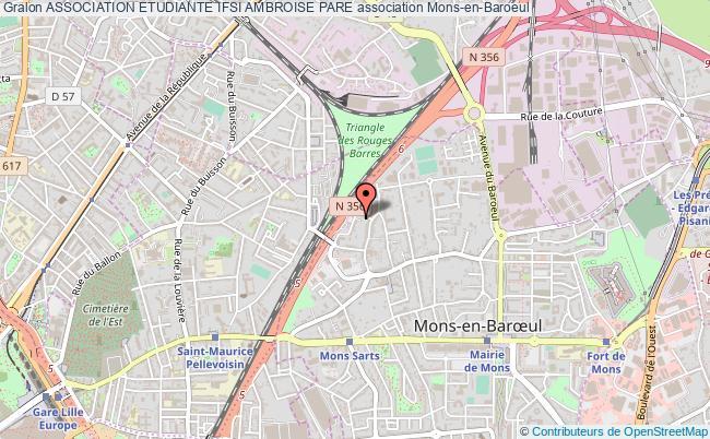 plan association Association Etudiante Ifsi Ambroise Pare