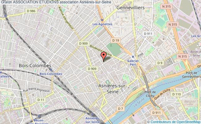plan association Association Etudions Asnières-sur-Seine
