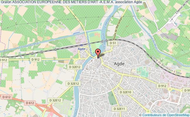 plan association Association Europeenne Des Metiers D'art -a.e.m.a. Agde
