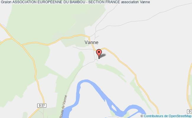 plan association Association EuropÉenne Du Bambou - Section France