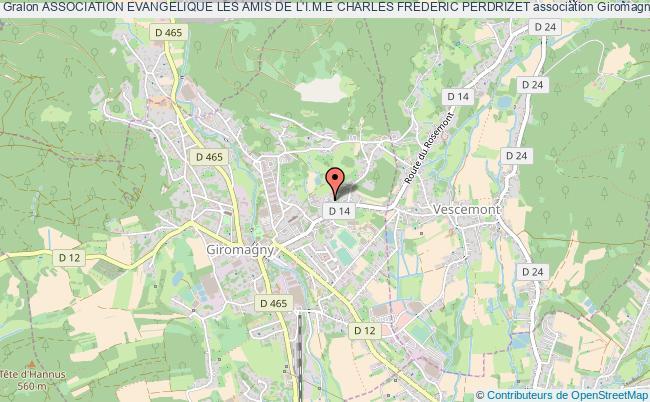 plan association Association Evangelique Les Amis De L'i.m.e Charles Frederic Perdrizet Giromagny