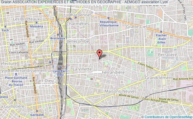 plan association Association Experiences Et Methodes En Geographie - Aemgeo