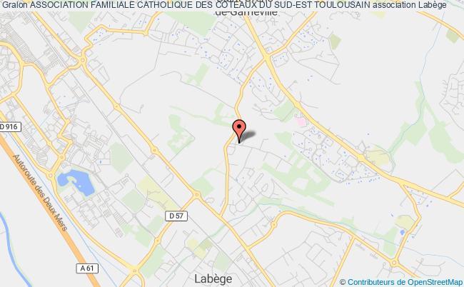 plan association Association Familiale Catholique Des Coteaux Du Sud-est Toulousain Auzeville-Tolosane