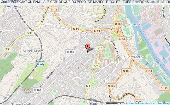plan association Association Familiale Catholique Du Pecq, De Marly-le-roi Et Leurs Environs Le    Pecq