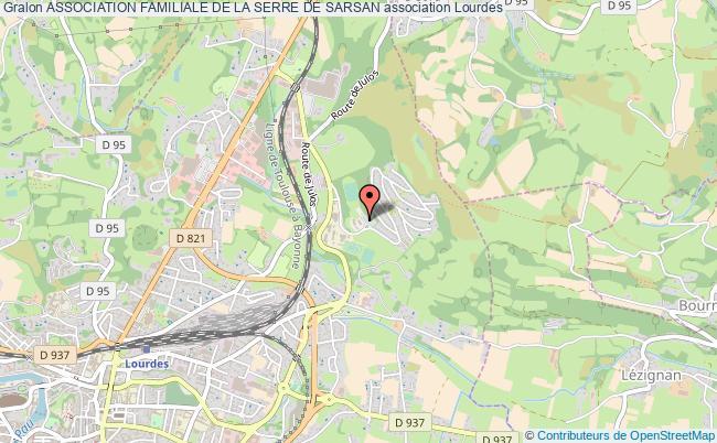 plan association Association Familiale De La Serre De Sarsan Lourdes