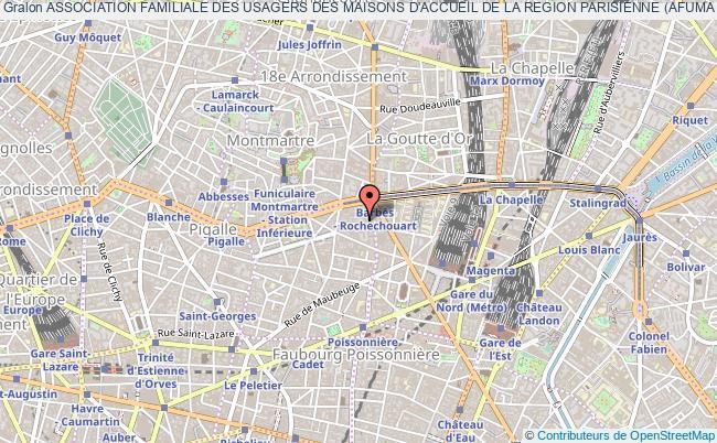 plan association Association Familiale Des Usagers Des Maisons D'accueil De La Region Parisienne (afuma Rp)
