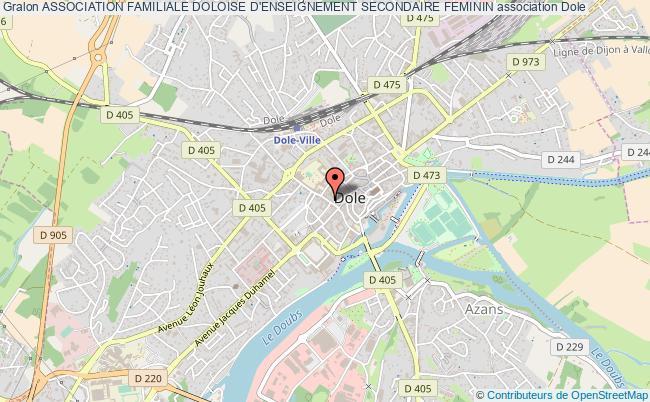 plan association Association Familiale Doloise D'enseignement Secondaire Feminin Dole