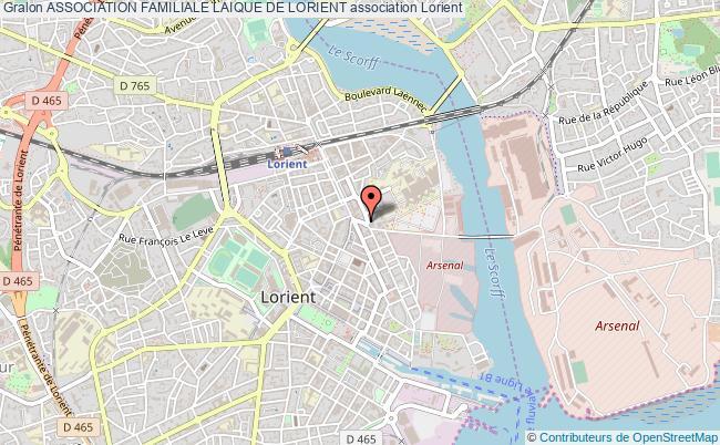 plan association Association Familiale Laique De Lorient