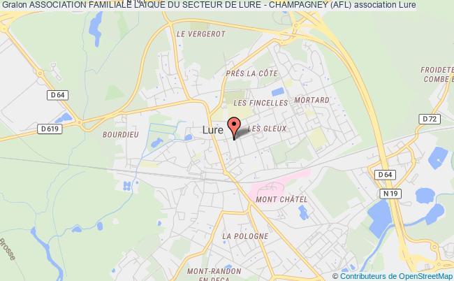 plan association Association Familiale Laique Du Secteur De Lure - Champagney (afl)