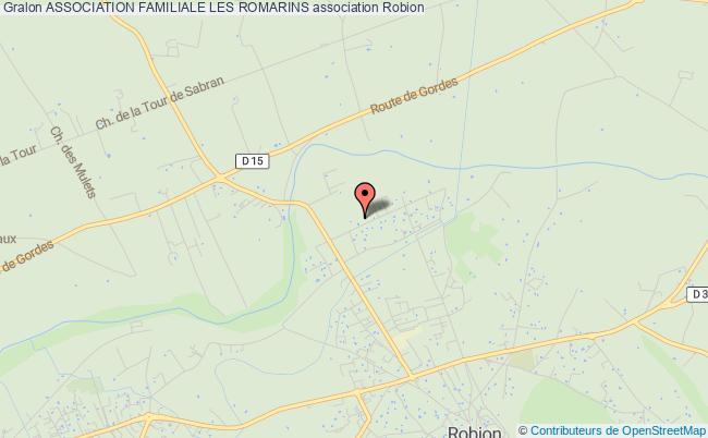 plan association Association Familiale Les Romarins