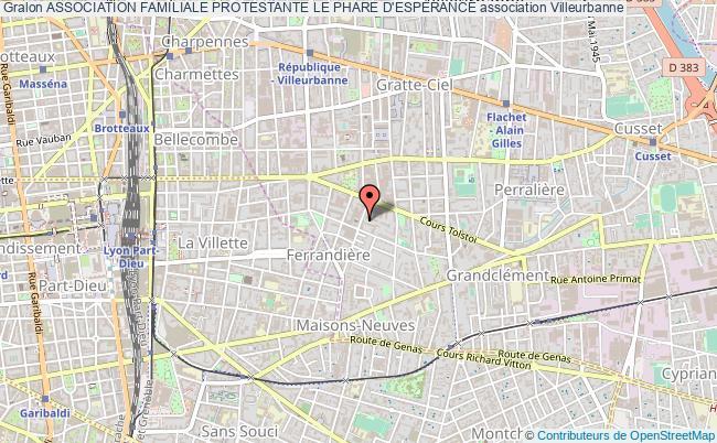 plan association Association Familiale Protestante Le Phare D'espÉrance