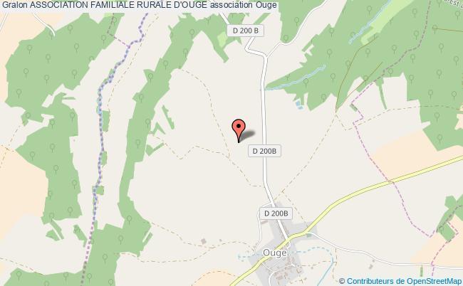 plan association Association Familiale Rurale D'ouge