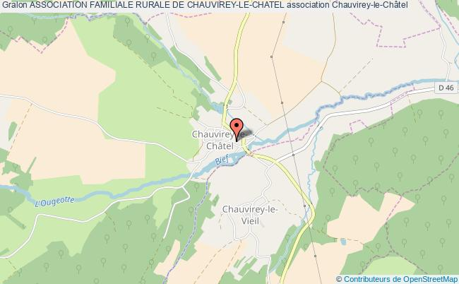 plan association Association Familiale Rurale De Chauvirey-le-chatel