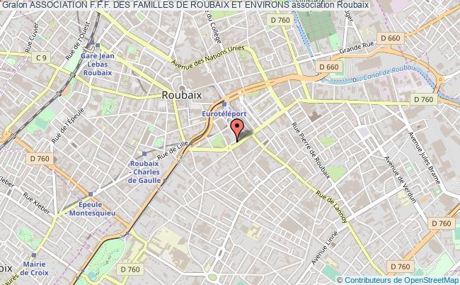 plan association Association F.f.f. Des Familles De Roubaix Et Environs Roubaix