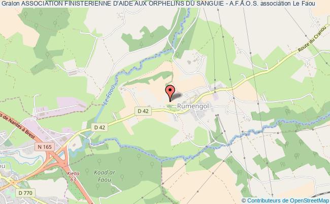 plan association Association Finisterienne D'aide Aux Orphelins Du Sanguie - A.f.a.o.s.