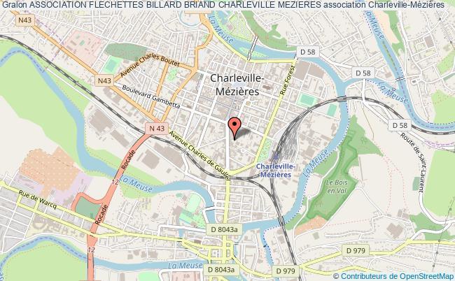 plan association Association Flechettes Billard Briand Charleville Mezieres