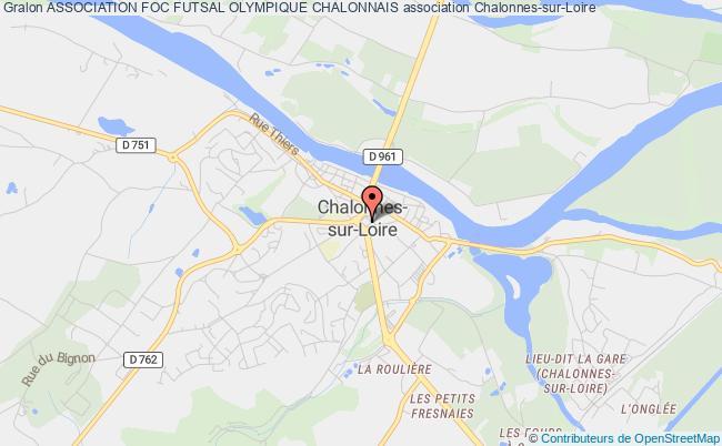 plan association Association Foc Futsal Olympique Chalonnais Chalonnes-sur-Loire