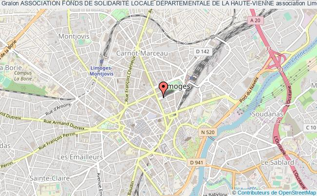 plan association Association Fonds De SolidaritÉ Locale DÉpartementale De La Haute-vienne