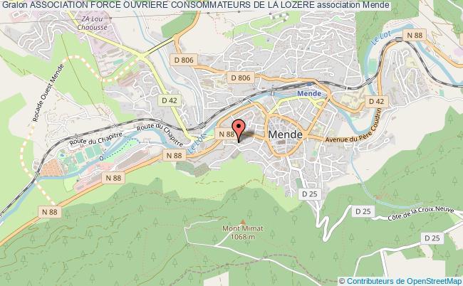 plan association Association Force Ouvriere Consommateurs De La Lozere