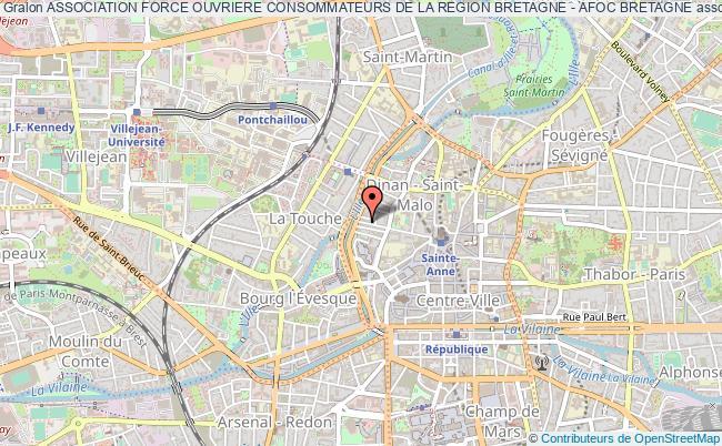 plan association Association Force Ouvriere Consommateurs De La Region Bretagne - Afoc Bretagne Rennes