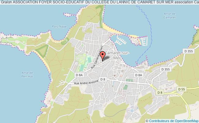 plan association Association Foyer Socio-educatif Du College Du Lannic De Camaret Sur Mer