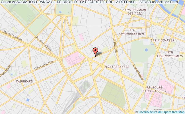 plan association Association Francaise De Droit De La Securite Et De La Defense -  Afdsd Paris