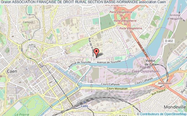 plan association Association FranÇaise De Droit Rural Section Basse-normandie Caen