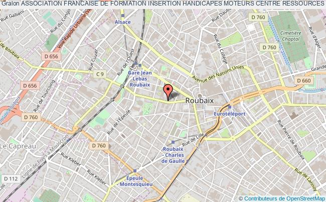 plan association Association Francaise De Formation Insertion Handicapes Moteurs Centre Ressources Formation Bureautique ( A F F I H M ) Roubaix