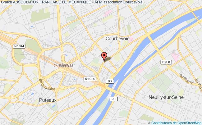 plan association Association FranÇaise De Mecanique - Afm Courbevoie