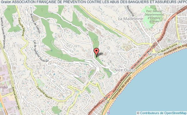 plan association Association FranÇaise De PrÉvention Contre Les Abus Des Banquiers Et Assureurs (afpcab) Nice